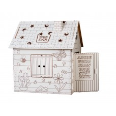 Картонный домик BIBALINA BBL003-001 Colouring play-house